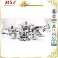 Quality MSF Surgical 12pcs Stainless Steel Cookware With Color Silicon On Handle & Knob MSF-3829 for sale