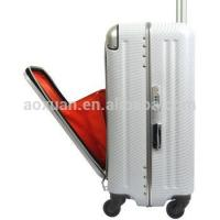 Quality aluminum frame suitcase aluminum frame luggage abs pc luggage for sale
