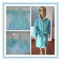 Personalized Light weight microfiber Children bath robe