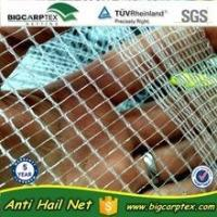 Quality 50 grm 7x2.8mm HDPE Agriculture Leno anti hail net for sale