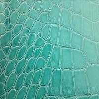 Quality Bag Leather light blue crocodile pvc synthetic leather for sale