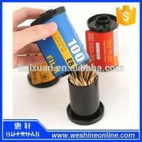 Quality Plastic Film Novelty Toothpick Holder / Promotional Toothpick Box Dispenser for sale