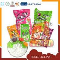 Quality love you roses lollipop candy for sale