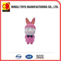Quality PU Stress Toys Hot new products Mini keychain rabbit action figures for baby toy for sale