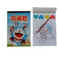 kids drawing book with writing brush/magic drawing book with brush