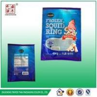 packaging for frozen foods&1 LB Frozen squid ring colored bag