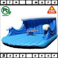Quality inflatable mechanical rodeo surfboard ride for adult game, inflatable game for sale for sale