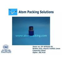 Quality 25ml Clear Blue Round Medicine Bottle for sale