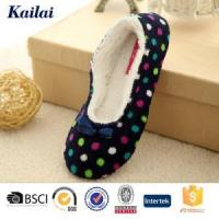 Dance Shoes Printed Coral Fleece Bowknot Dance Shoes