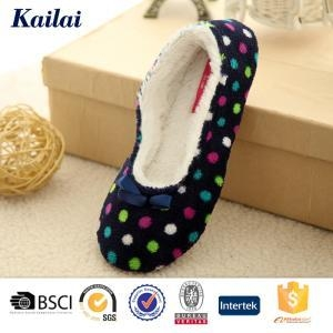 Buy Dance Shoes Printed Coral Fleece Bowknot Dance Shoes at wholesale prices