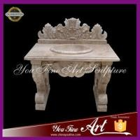 Quality western marble basin design hand carved for sale