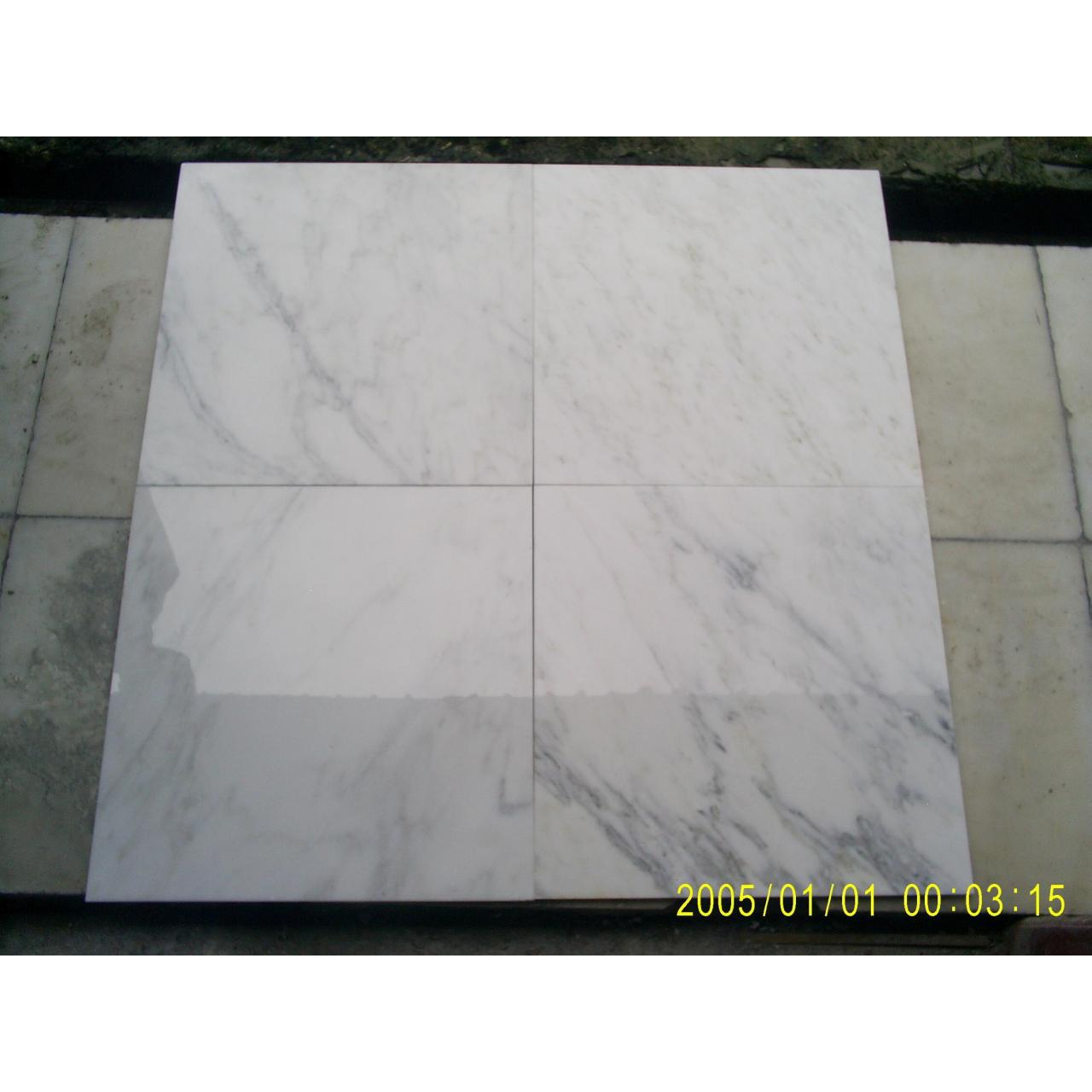 China Snow White-Marble Tile for sale