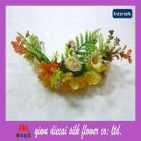 artificial flower crown hair accessory