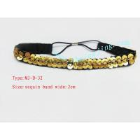 Quality Hairbands/Hairpin CM010 Gold glitter beads hair band for sale