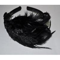 Buy cheap Hairbands/Hairpin CM010 the latest feather sequins hair hoop from wholesalers