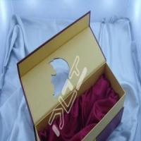 Thick rigid paperboard gift boxes for wine bottles for sale