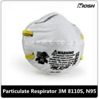 Quality Small Particulate Respirator 3M 8110S, N95 for sale