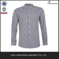 Brown And Navy Gingham Long Sleeve Smart Shirt