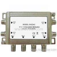 Quality High Effective 2x2x4 cascadeable multiswitch for satellite receiver for sale