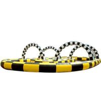 Quality Inflatable track race, inflatable kart track ,inflatable sport games for sale