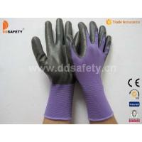 Violet nylon with black nitrile glove-DNN810