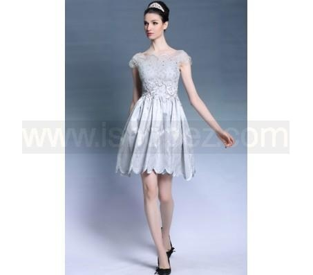 China Open Back Cocktail Party Dress, Fashion Short Puffy Prom Dresses