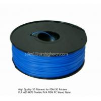 Quality HIPS filament Blue color 1.75/3.0mm for sale