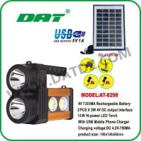 Quality Solar Lighting System AT-8298 solar high-power torch for sale