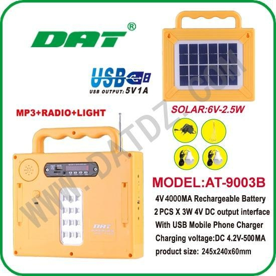 Buy Solar Lighting System AT-9003B solar lighting system with radio and MP3 at wholesale prices