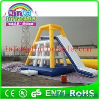 Quality QinDa Inflaable Best Sale inflatable floating water slide adults inflatable water slide for sale