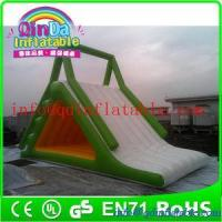 Quality Giant QinDa inflatable water slide for sea lake pool inflatable water pool slide for sale