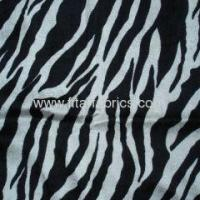 Quality Polyester zebra printed panne for sale
