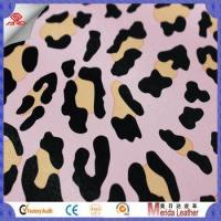 Quality New style multicolor leopard pattern brush backing imitation leather for bags for sale