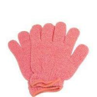China Body Buffing Gloves - Peach on sale