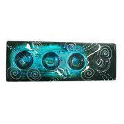China P1044 Colored glaze hand painted glass candle holder tray on sale