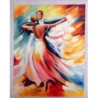 China Sample Paintings dancing people impressionism oil painting on sale