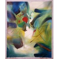 Quality Chinese Zhu Dequn Abstract canvas painting for sale