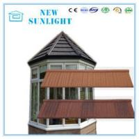 China Wood Shake Type Waterproof Zinc Stone Coated Metal Roofing Tiles Roof System on sale