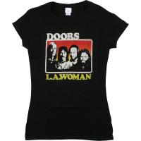 China LA Woman Juniors Black Juniors Long Length T-Shirt on sale