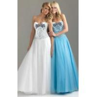 Quality Strapless Lace Beading Court Train Wedding Dress for sale