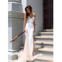 Fashion Women Lace Mermaid Sweetheart Court Train Evening Party Dress