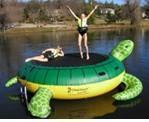 Quality kids inflatable water float sea turtle trampoline-WG-048 for sale