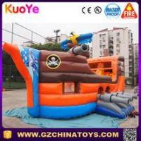 Buy cheap customized amusing pirate ship inflatable slide bounce house from wholesalers