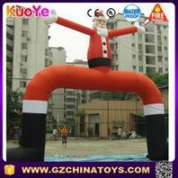 Buy cheap customized size christmas satan inflatable archways Satan arch on sale from wholesalers