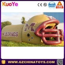 Buy factory price popular inflatable football helmet tunnel rental at wholesale prices