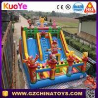 Quality 2016 Hot commercial everest inflatable double lane slip slide with anmials for sale