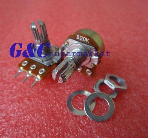 Buy 10pcs 50K Ohm B50K Knurled Shaft Linear Rotary Taper Potentiometer at wholesale prices