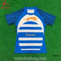 China Sublimation Custom Any Logo Cheap Rugby Jersey Team Set Shirt Uniform on sale
