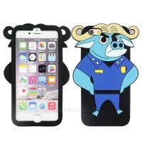 Quality Customized Zootopia African Buffalo 3D Chief Bogo Silicone Cellph for sale