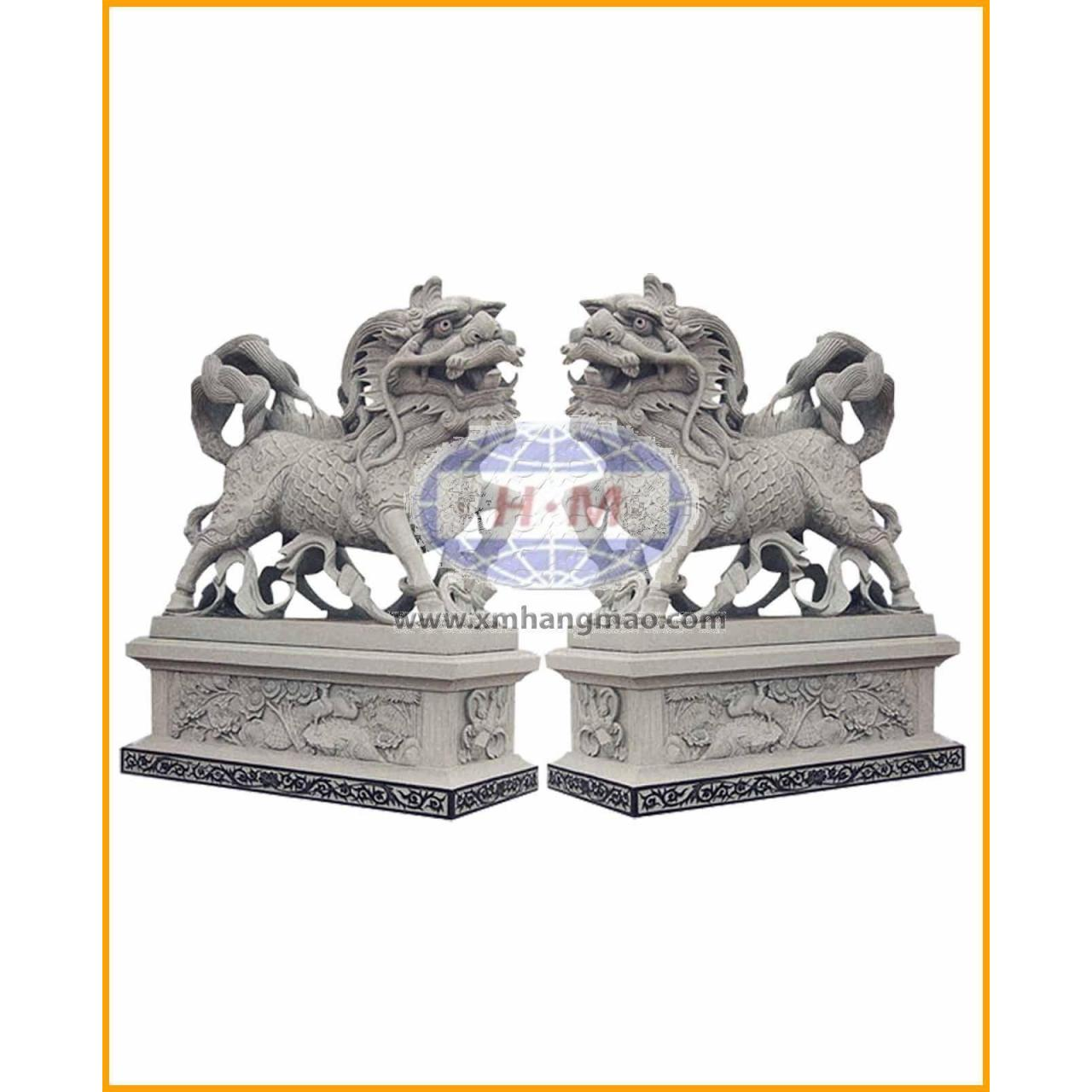 HML-006 stone lion  sofitel beige marble guangxi white marble crystal white marble for sale
